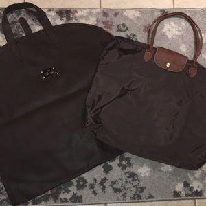 Combo Deal Longchamp Tote JM New York Garment Bag